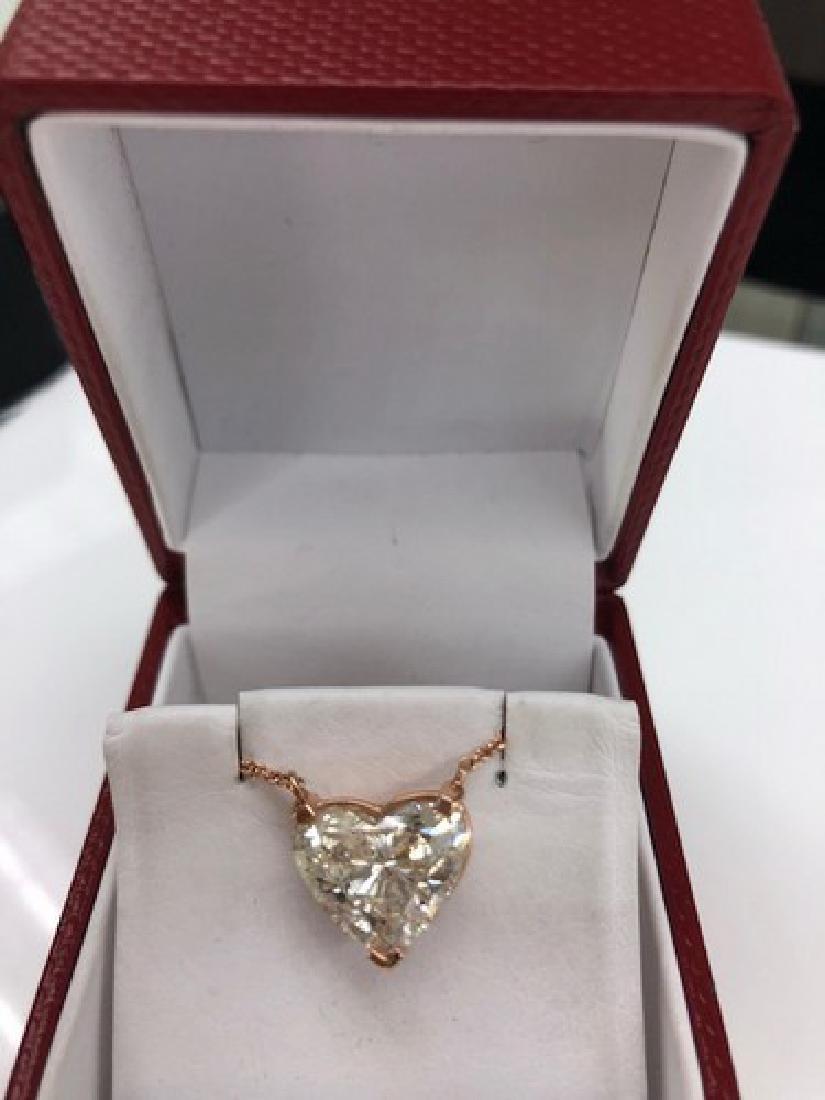 6.10ct Diamond Heart Pendant