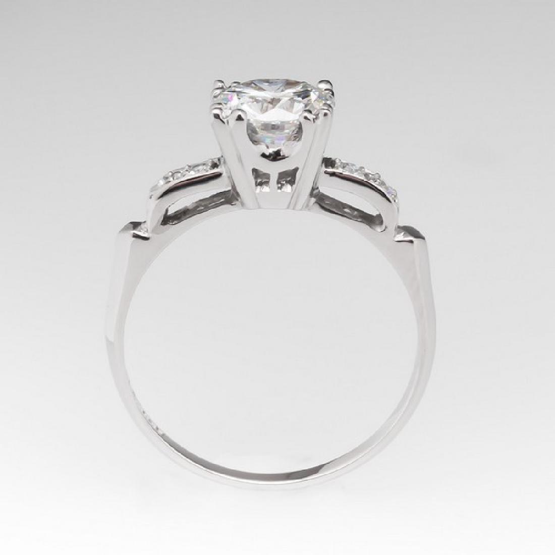 VINTAGE PLATINUM GIA DIAMOND ENGAGEMENT RING - 3