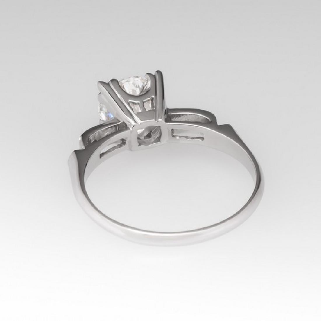 VINTAGE PLATINUM GIA DIAMOND ENGAGEMENT RING - 4