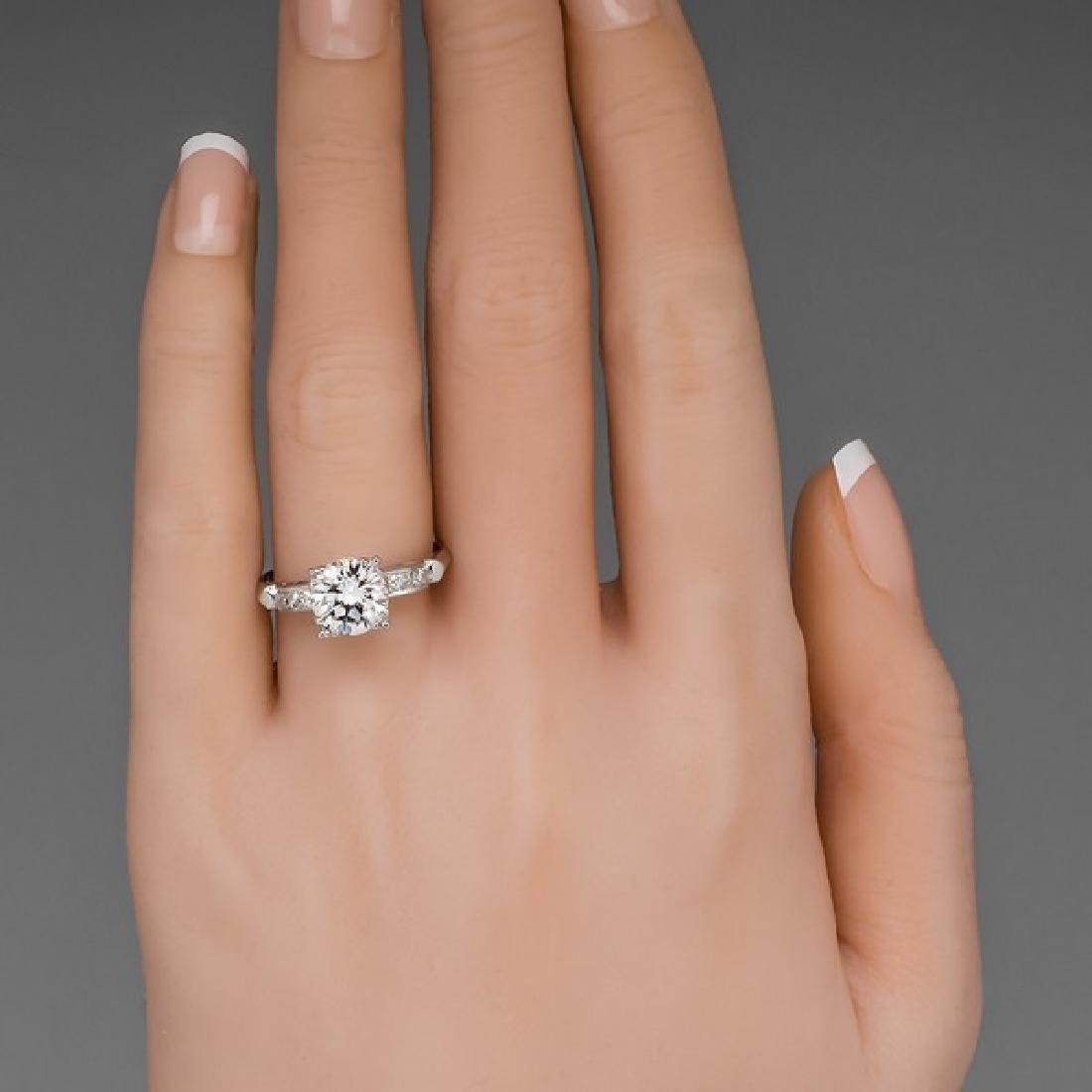 VINTAGE PLATINUM GIA DIAMOND ENGAGEMENT RING - 5
