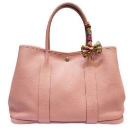 Hermes Pink Rose Sakura Leather 36 Garden Party