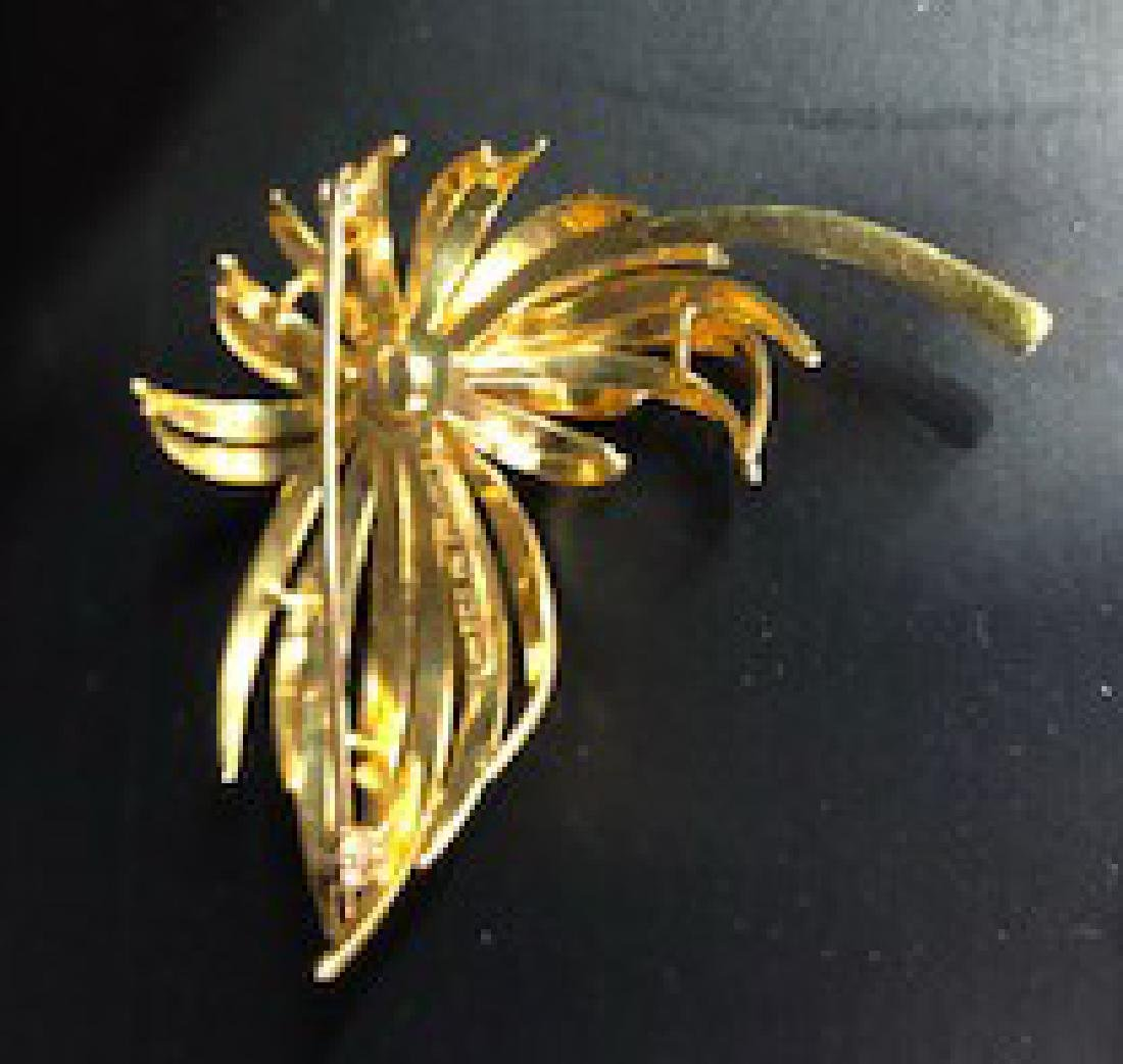 Antique French Diamond Brooch in 18K Gold - 3