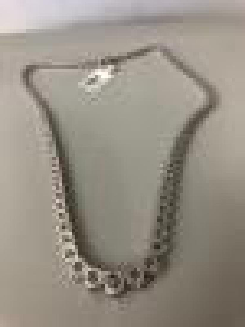 Designer 23ctw Diamond Necklace in 18K White Gold - 3