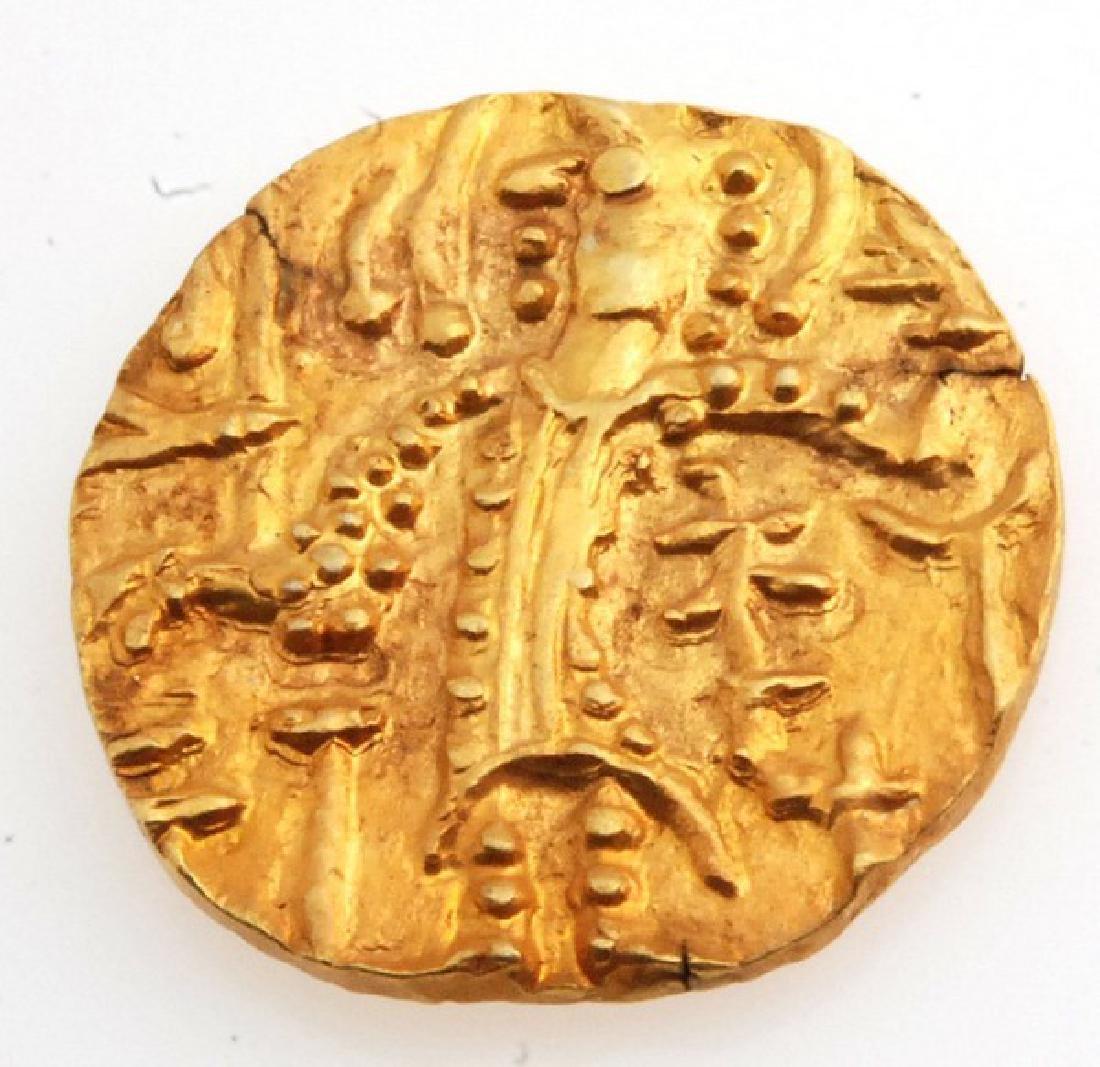 Ancient Kushan Gold Coin Late Kushan Period Shaka