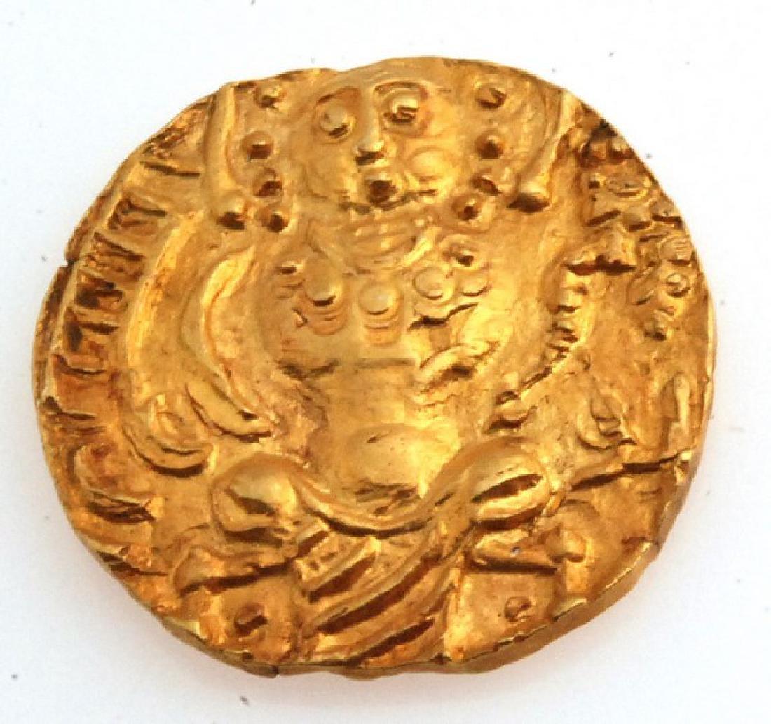 Ancient Kushan Gold Coin Late Kushan Period Shaka - 2