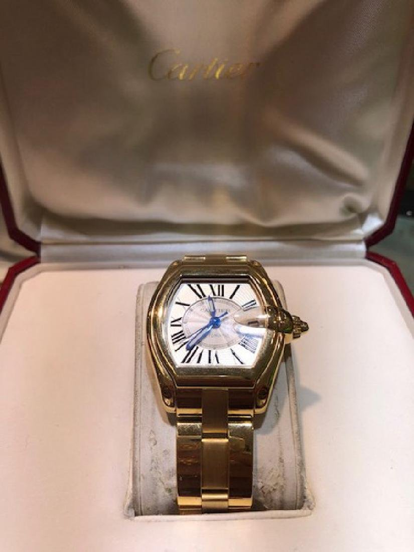 3 Cartier Watch Roadster in 18K Gold w. Box/Papers