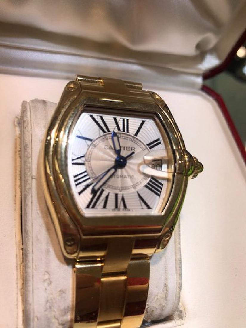 3 Cartier Watch Roadster in 18K Gold w. Box/Papers - 2