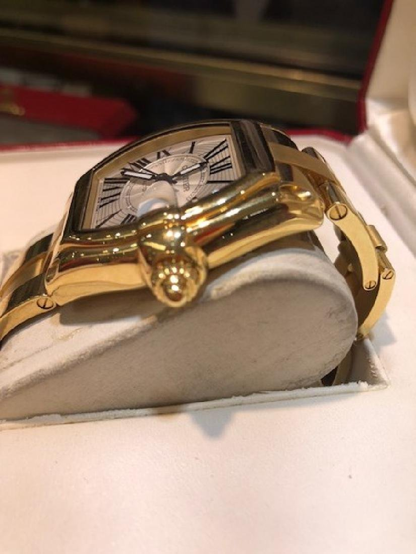 3 Cartier Watch Roadster in 18K Gold w. Box/Papers - 3