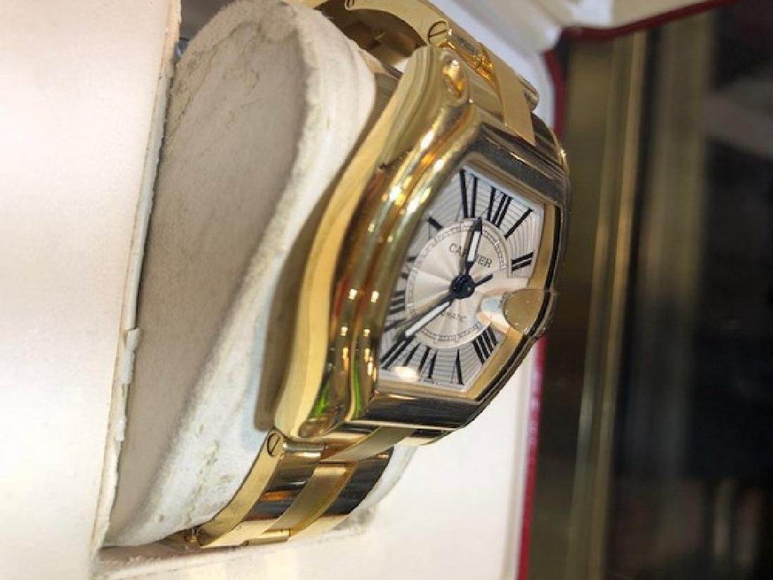 3 Cartier Watch Roadster in 18K Gold w. Box/Papers - 4