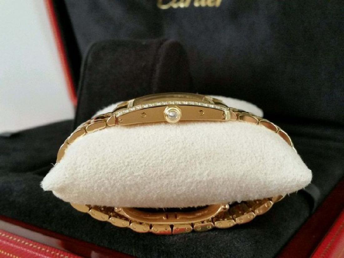 Cartier Watch ( Tank in 18K Yellow Gold w. Diamonds) - 4