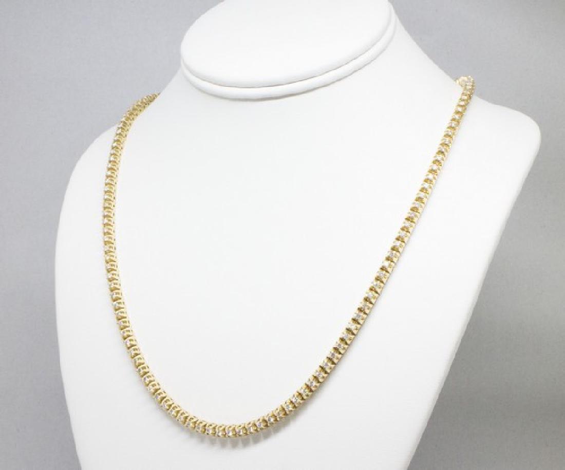 14k Gold Diamond Tennis Necklace 6.50CTW