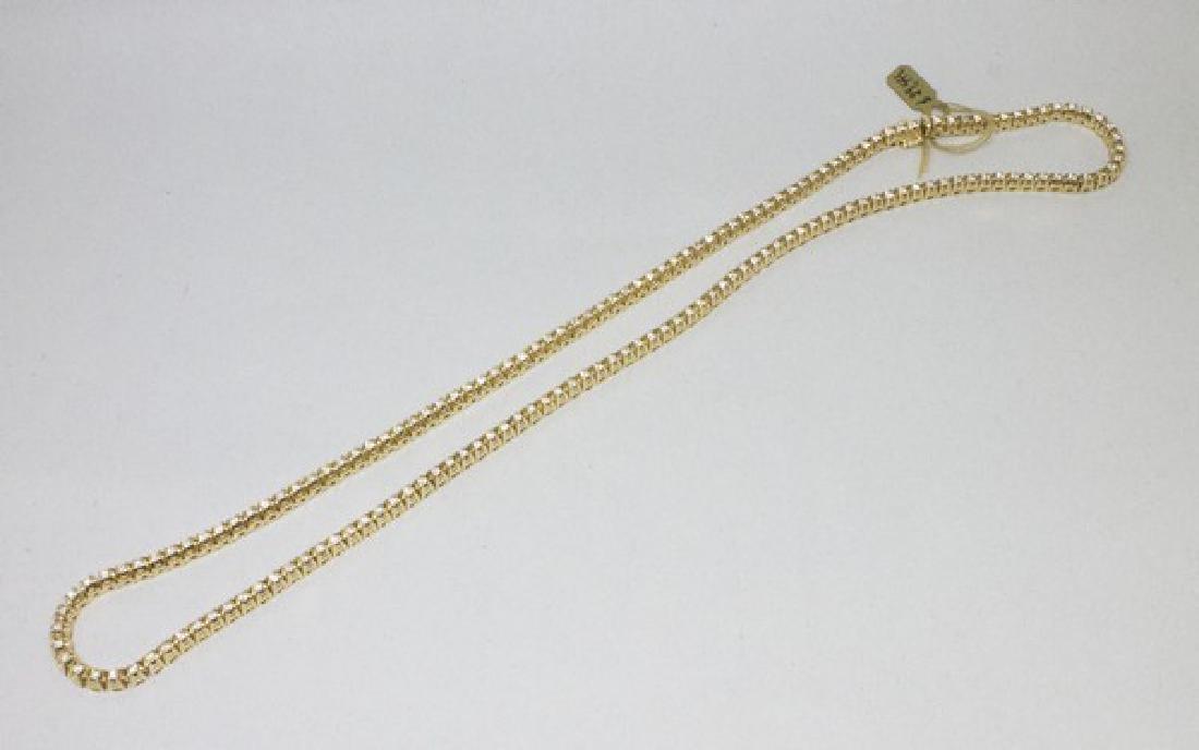 14k Gold Diamond Tennis Necklace 6.50CTW - 3