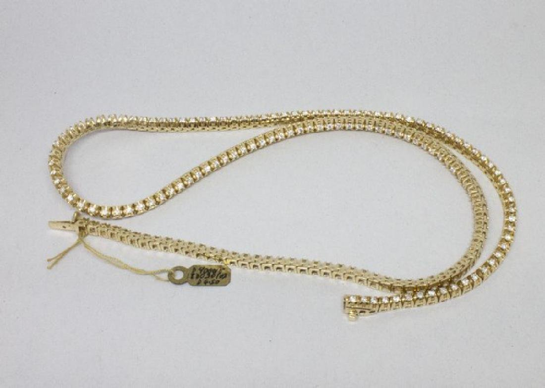 14k Gold Diamond Tennis Necklace 6.50CTW - 4