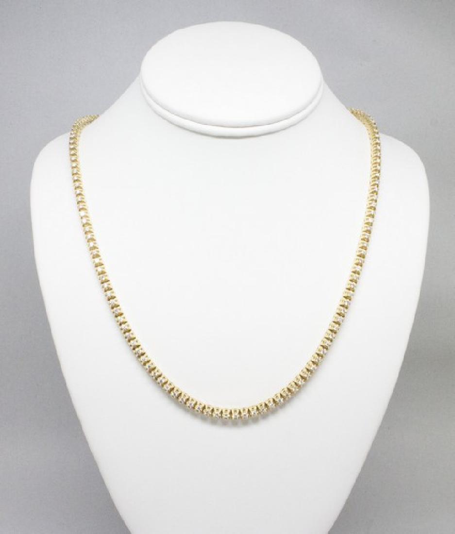14k Gold Diamond Tennis Necklace 6.50CTW - 5