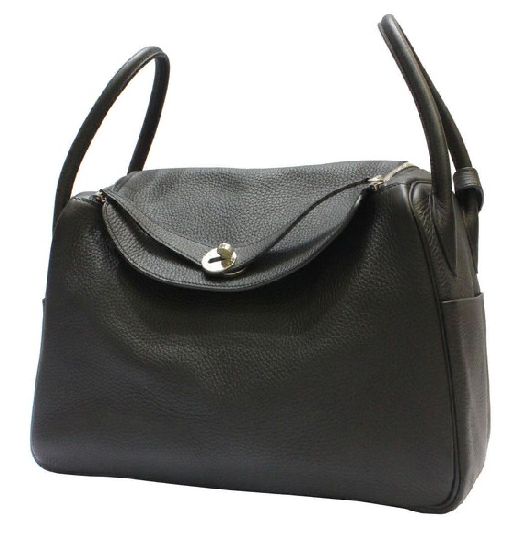 100% Authentic Luxury Brand: Hermes Black Lindy 34