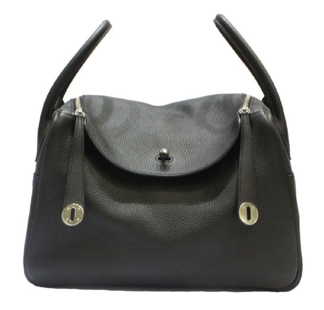 100% Authentic Luxury Brand: Hermes Black Lindy 34 - 8