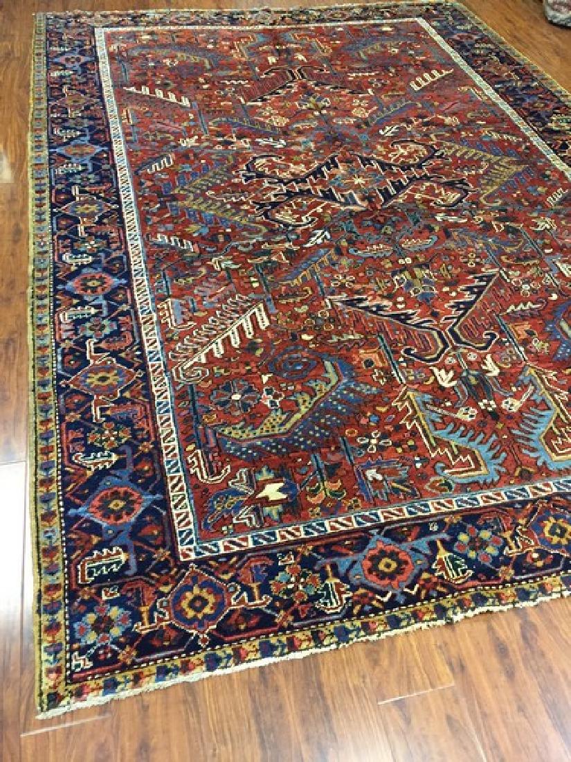 Antique Persian Heriz Rug #590