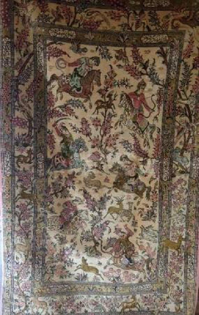 Fine Vintage Silk Persian Rug - 2