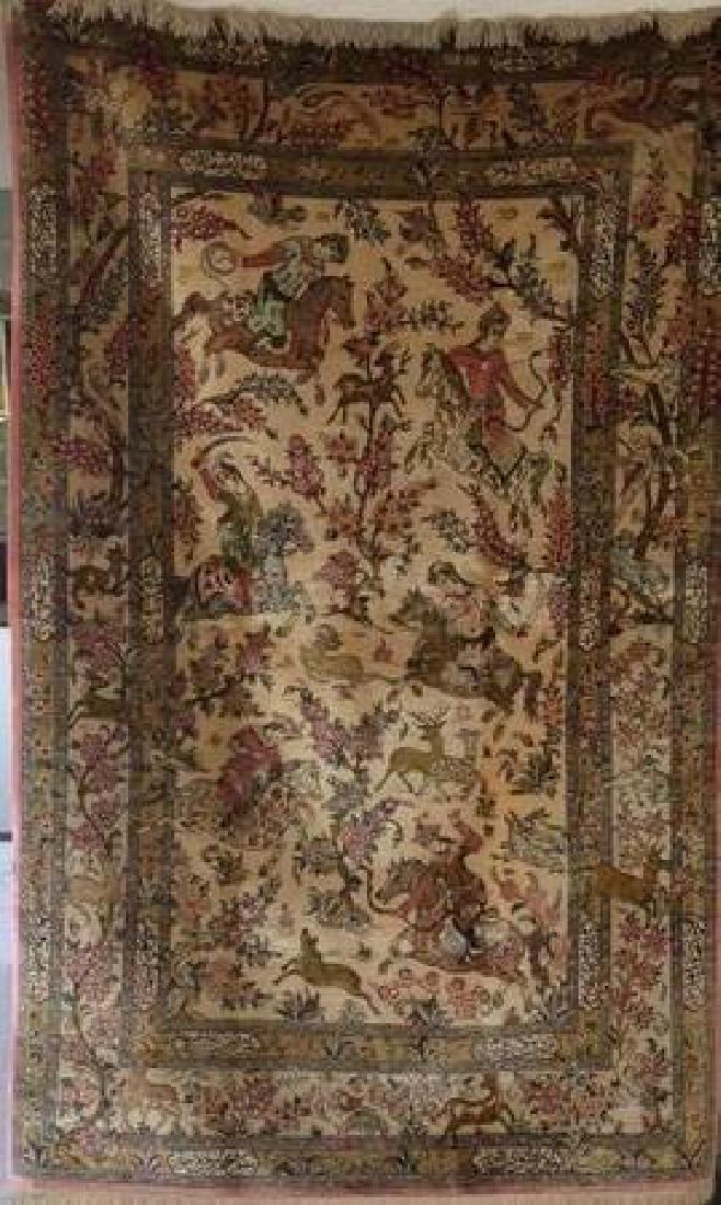 Fine Vintage Silk Persian Rug - 3
