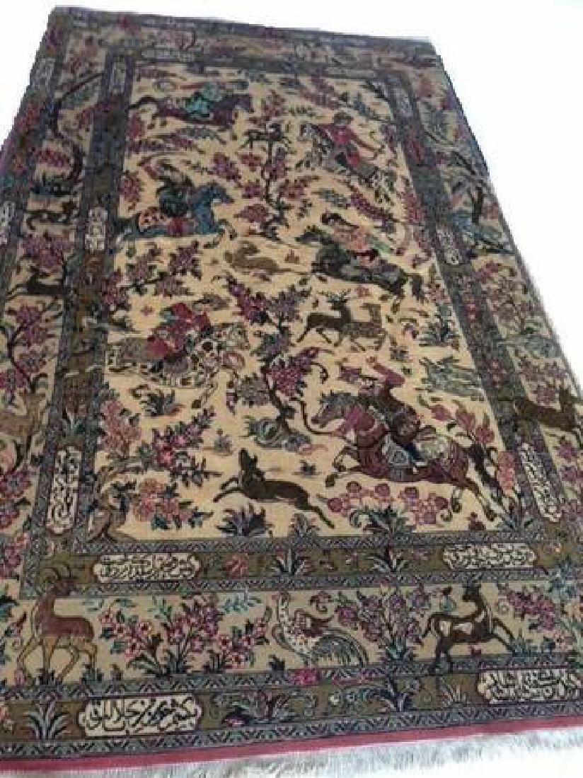 Fine Vintage Silk Persian Rug - 4