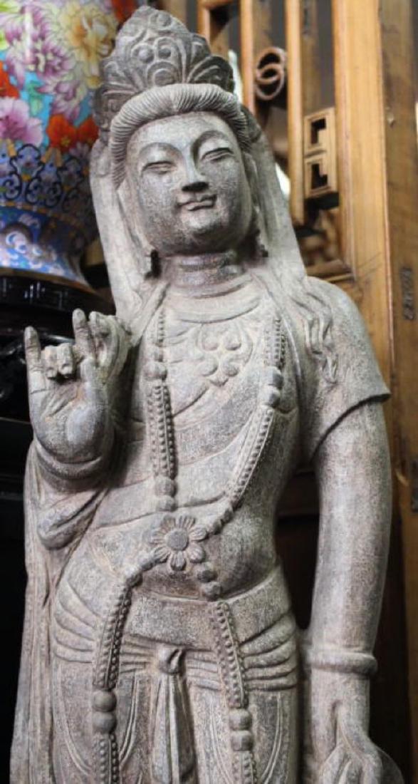 Chinese Stone Golddess Statue