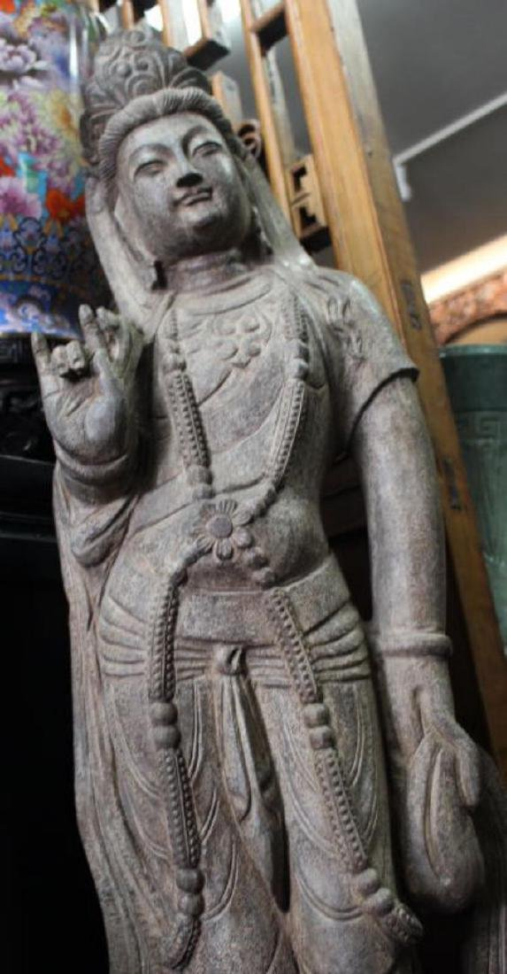 Chinese Stone Golddess Statue - 2
