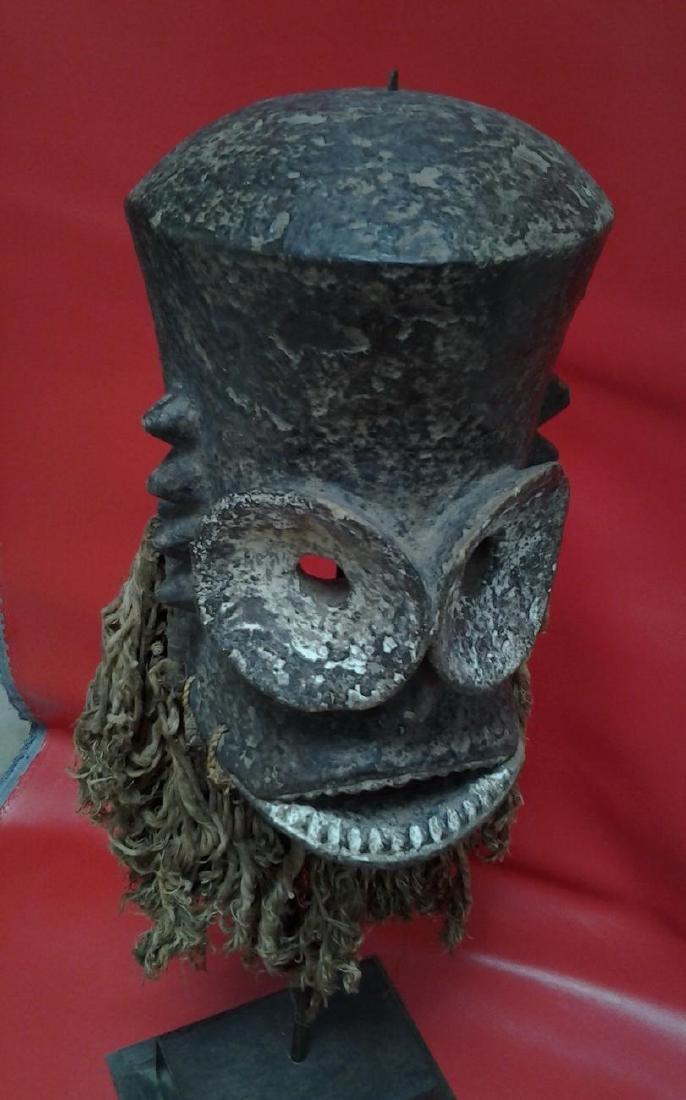 """Antique Bronze African Dan Mask 18"""", 5-lbs"""