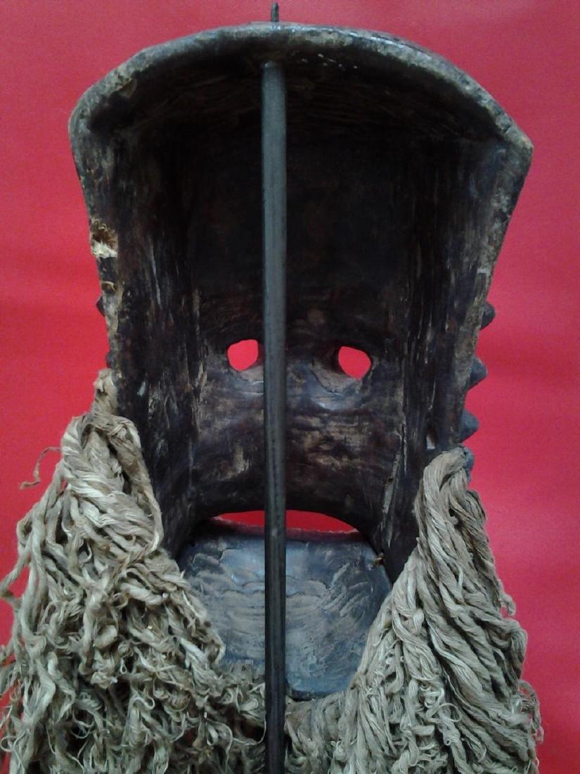 """Antique Bronze African Dan Mask 18"""", 5-lbs - 4"""