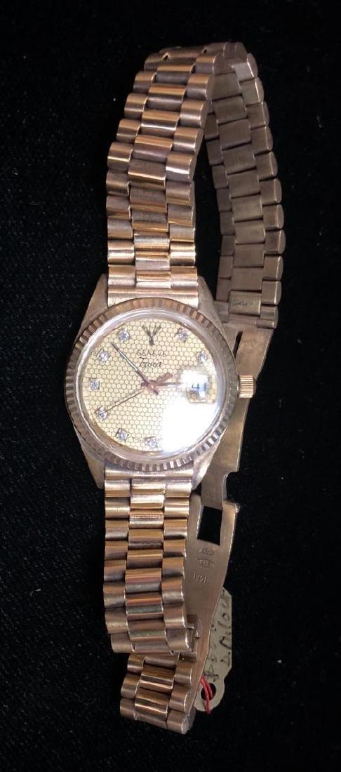 14K White Gold Ladies Geneva Swiss Watch