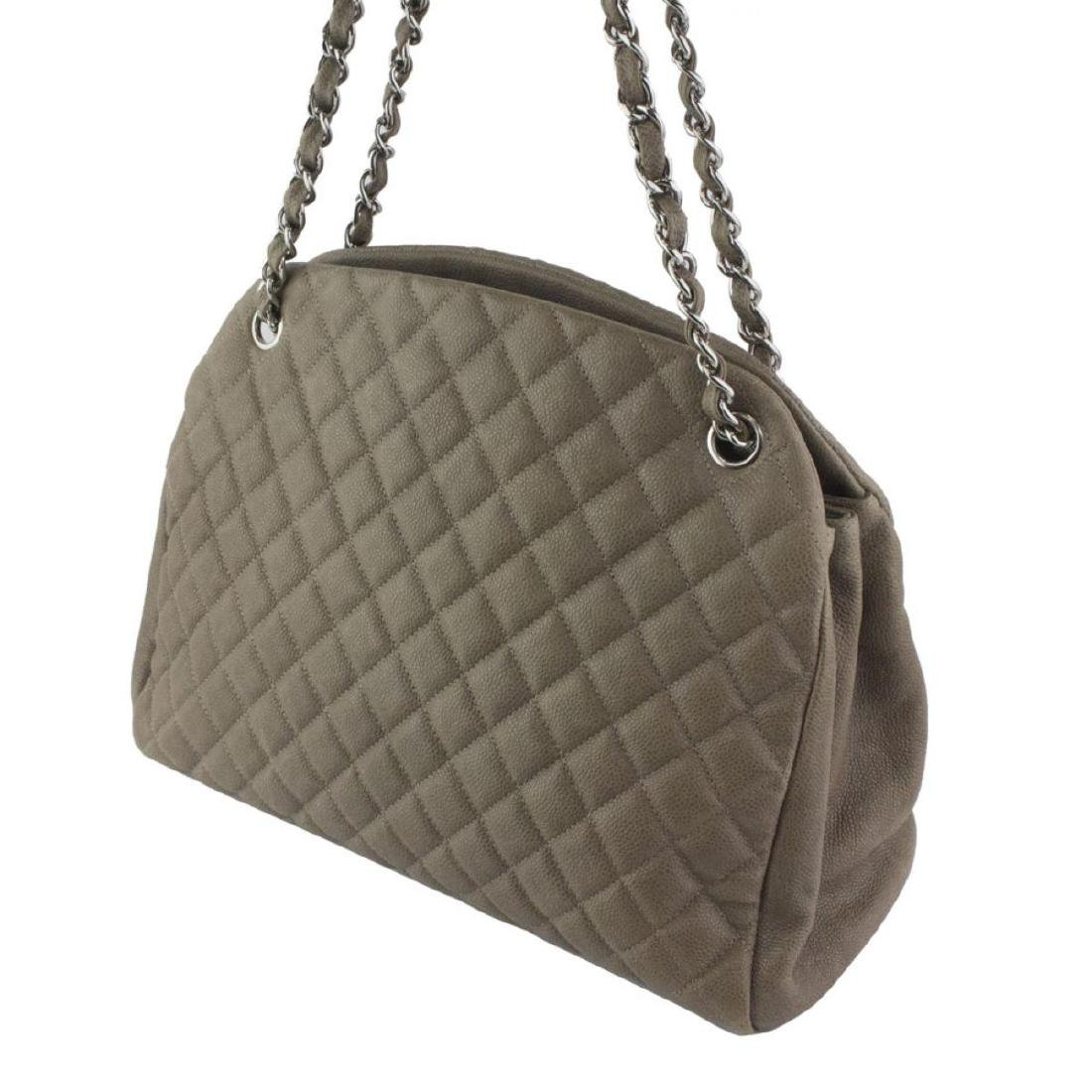 CHANEL Taupe Quilted  Bowling Bag - 2