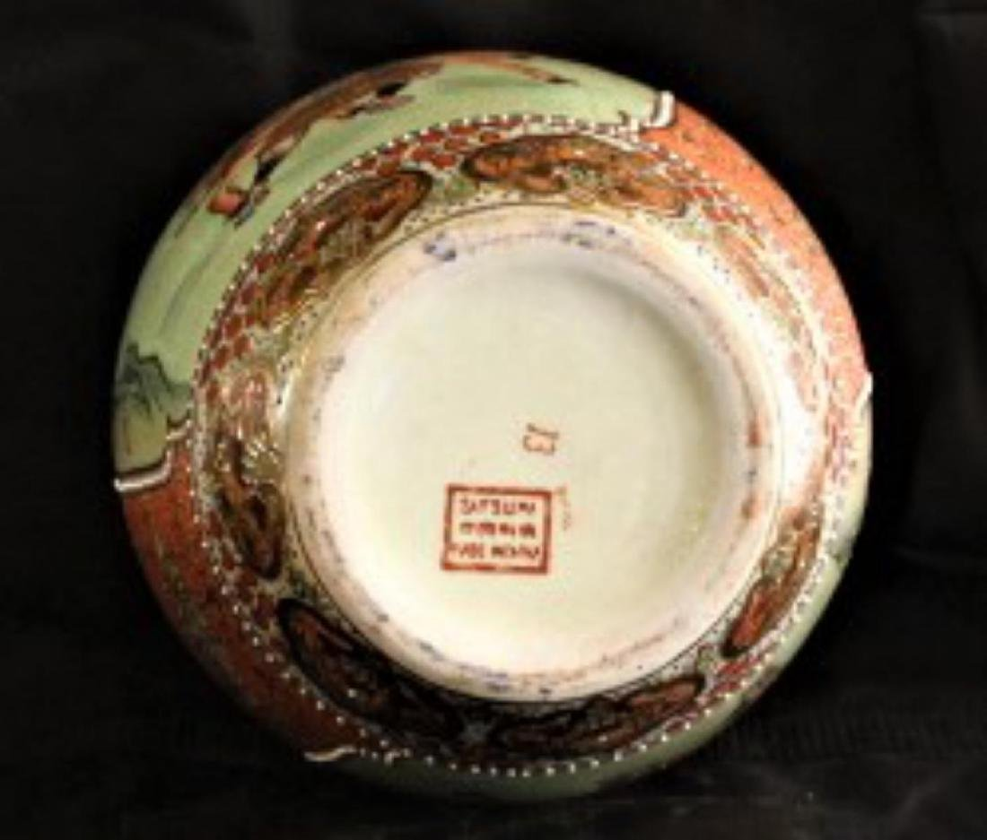 "Antique Chinese Hand Painted Porcelain Urn 12"", 7-lbs - 4"