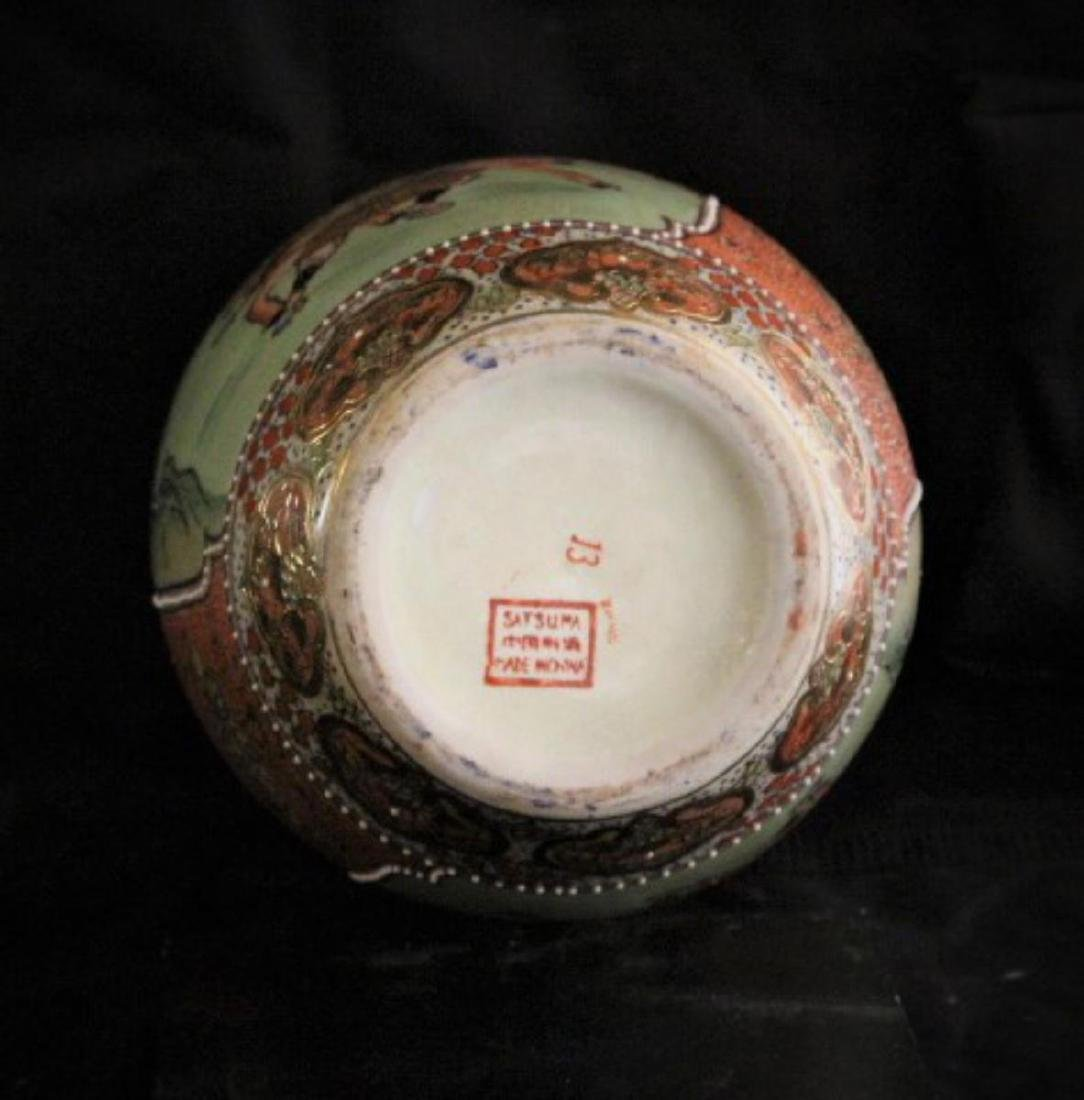 "Antique Chinese Hand Painted Porcelain Urn 12"", 7-lbs - 5"