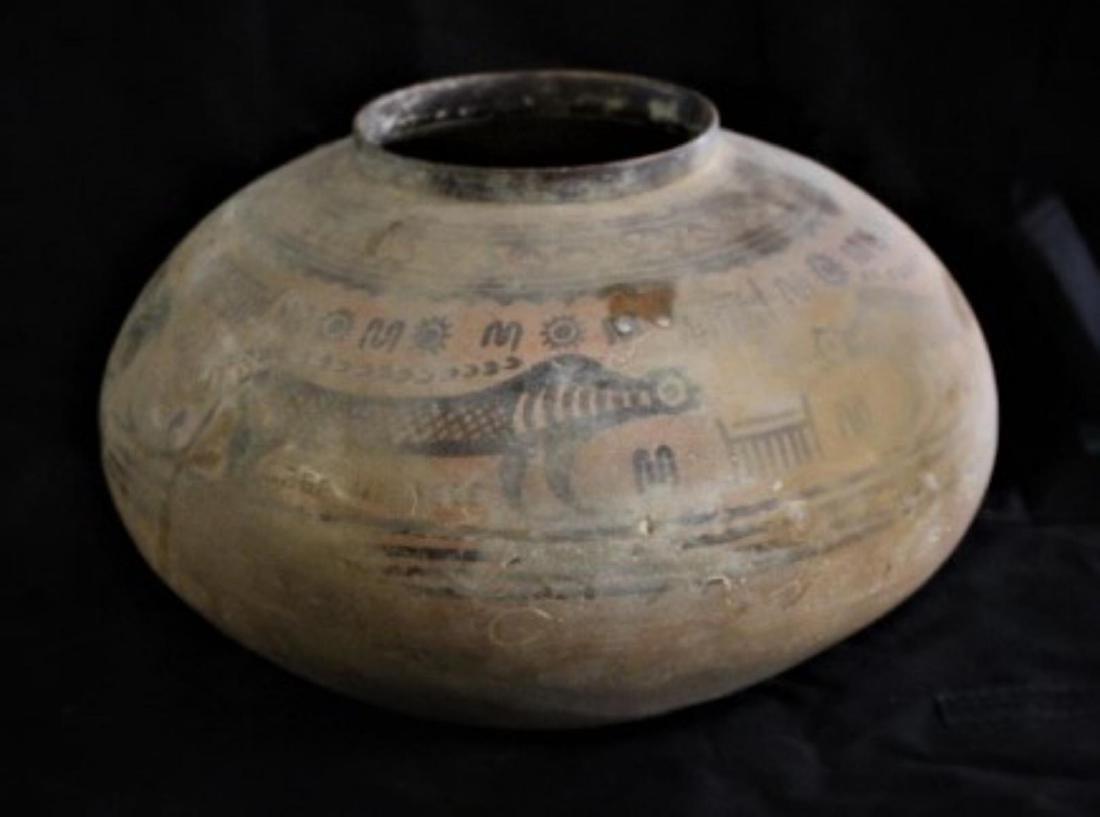 "Indus Valley Ceramic Vessel (genuine artifact) 12"""