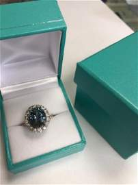 Platinum Tiffany Rare Color Change Sapphire Ring