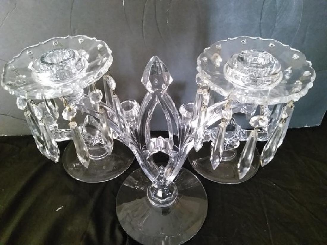 """11"""" Fine Vintage Crystal Chandeliers (Candelabra's) - 3"""