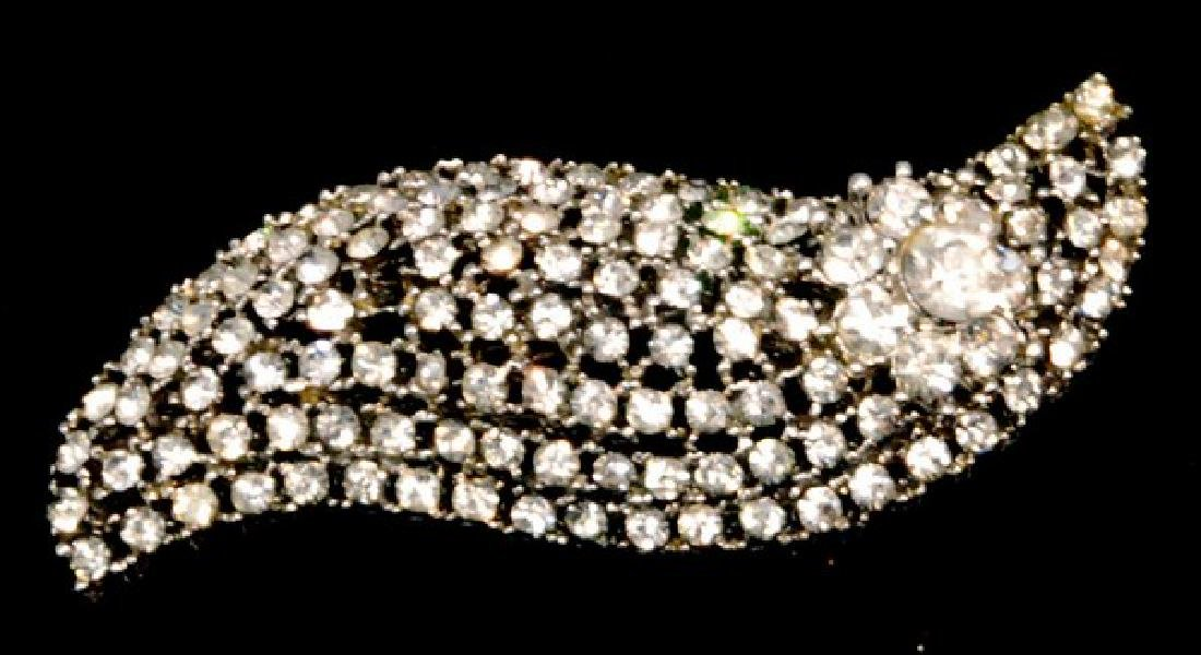 Vintage Estate Rhinestone Jewelry Pin 63mm