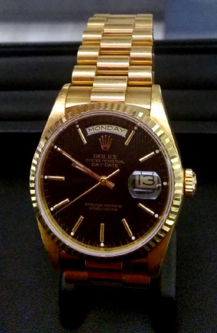 18K Yellow Gold Rolex Presidential Watch - 2