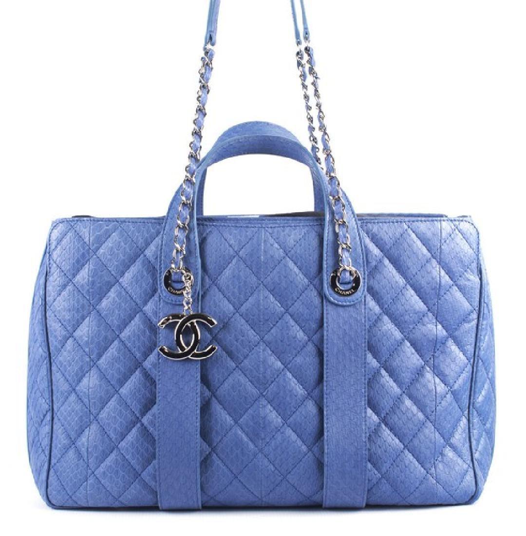 Chanel Blue Large Shopping Bag