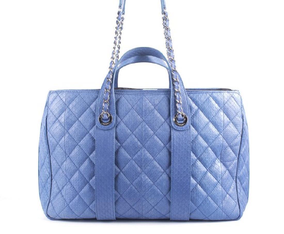 Chanel Blue Large Shopping Bag - 2