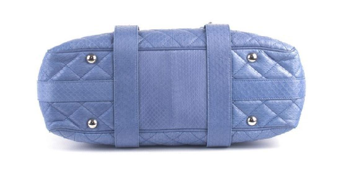 Chanel Blue Large Shopping Bag - 3