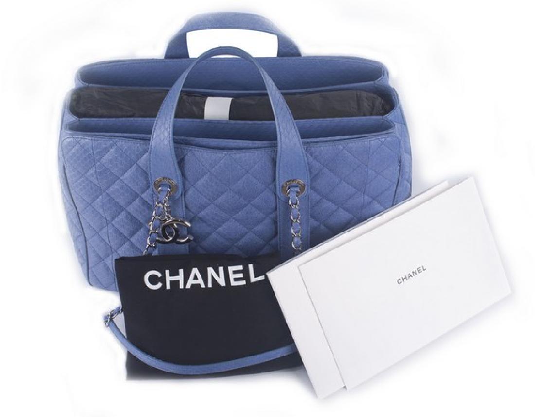 Chanel Blue Large Shopping Bag - 4