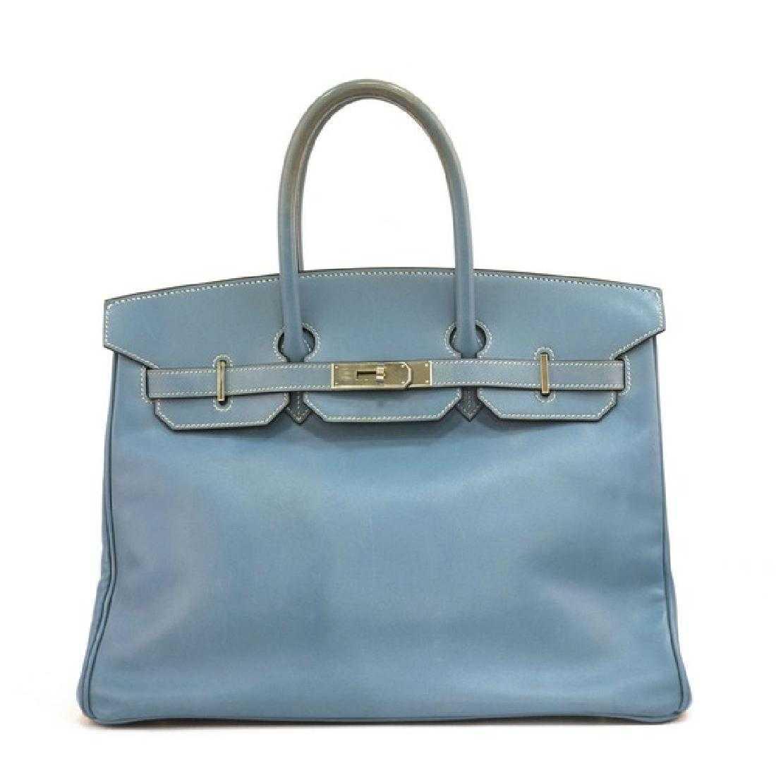 5b6f3c5ae66 Hermes Birkin 35 in Light Blue