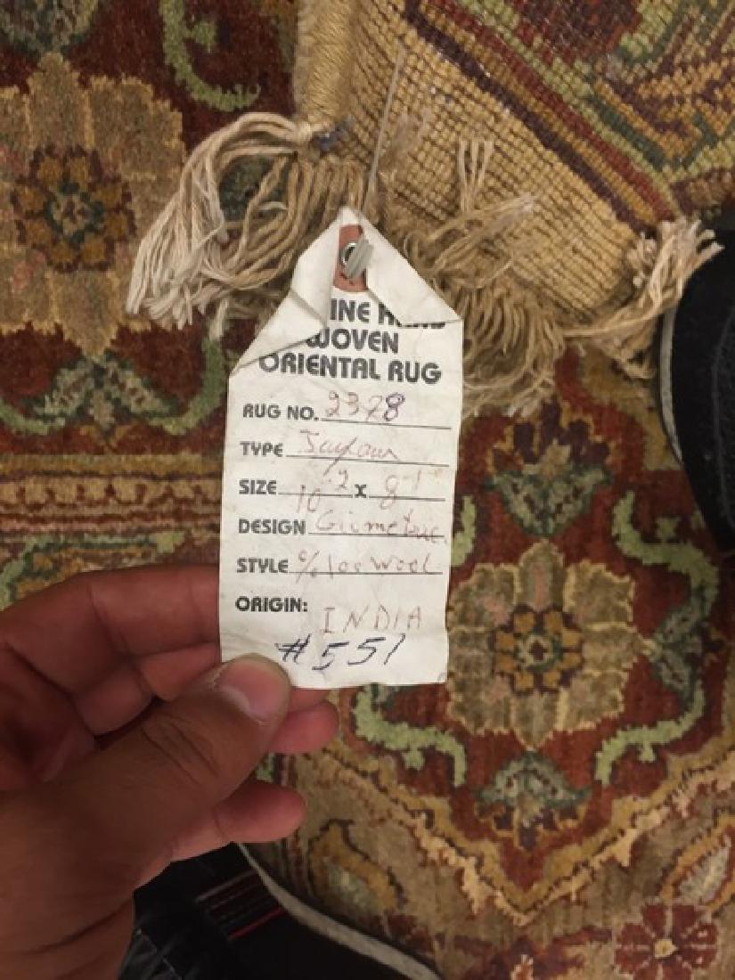Indian Origin, Handmade of Wool Rug #551 - 2