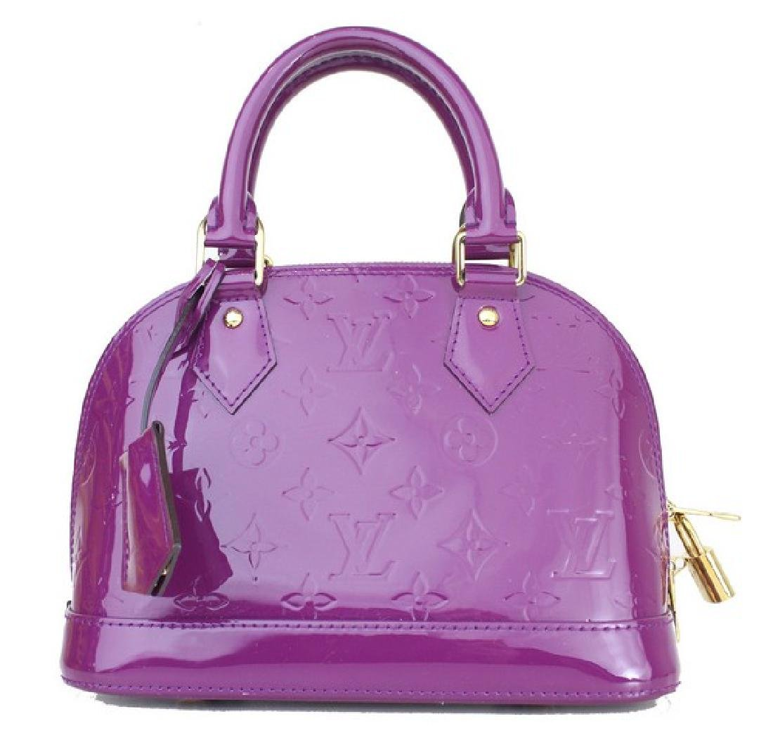Louis Vuitton Handbag LV Purple Alma BB - 4