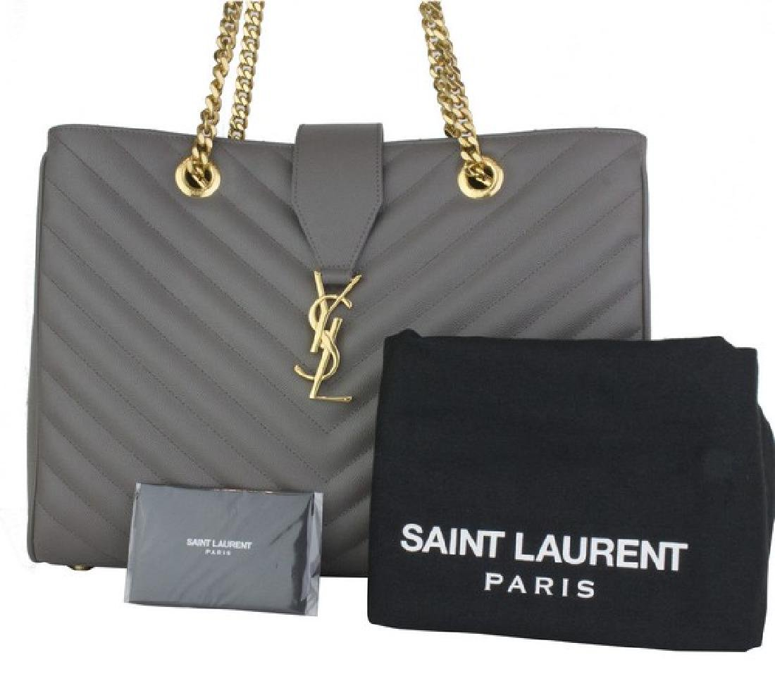 2f6681e903a For Auction: YVES SAINT LAURENT Handbag Grey Chevron Monogram Tote (#227)  on Jan 30, 2019 | Global Luxury Auctions in NV