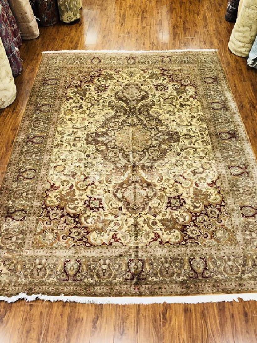 "Very Fine Antique Persian Tabriz Rug 11x8"""
