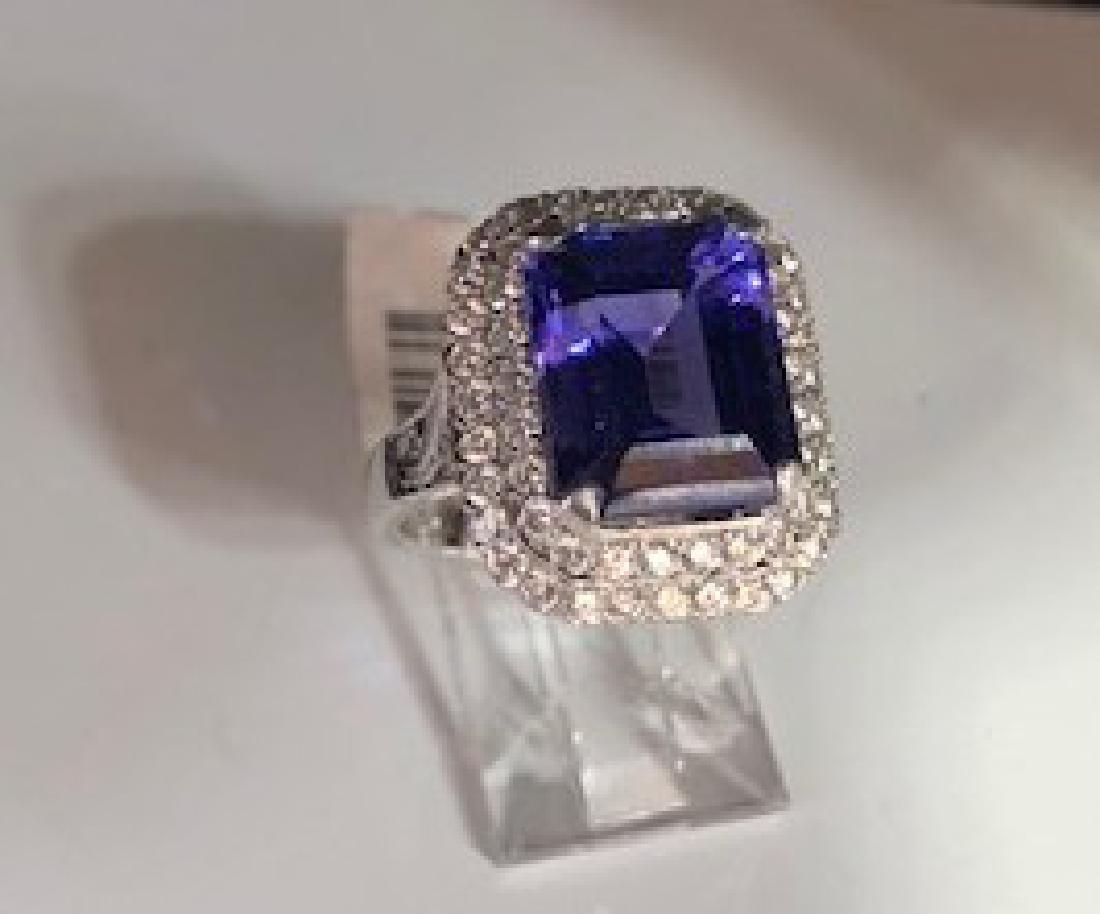 Gold GIA Certified Tanzanite Diamond Cocktail Ring