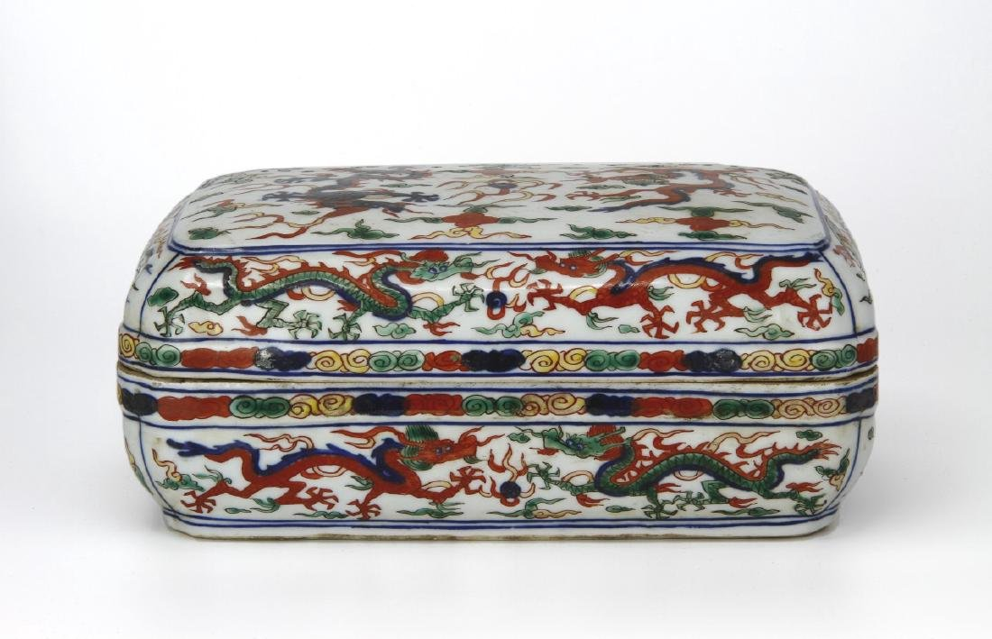 Chinese Polychrome Enameled Box/Cover