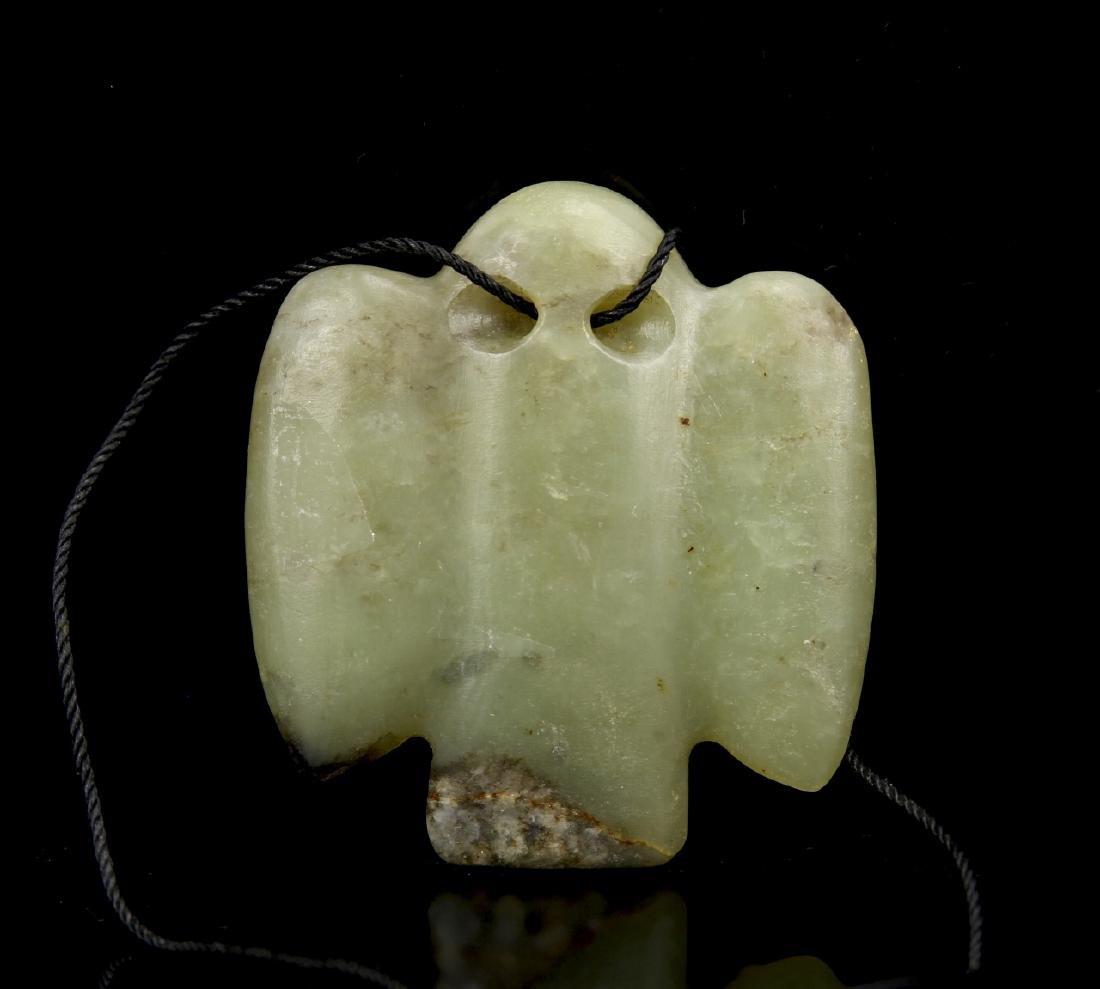 Green Jade Bird-Shaped Pendant, Hongshan Gou Mang - 2
