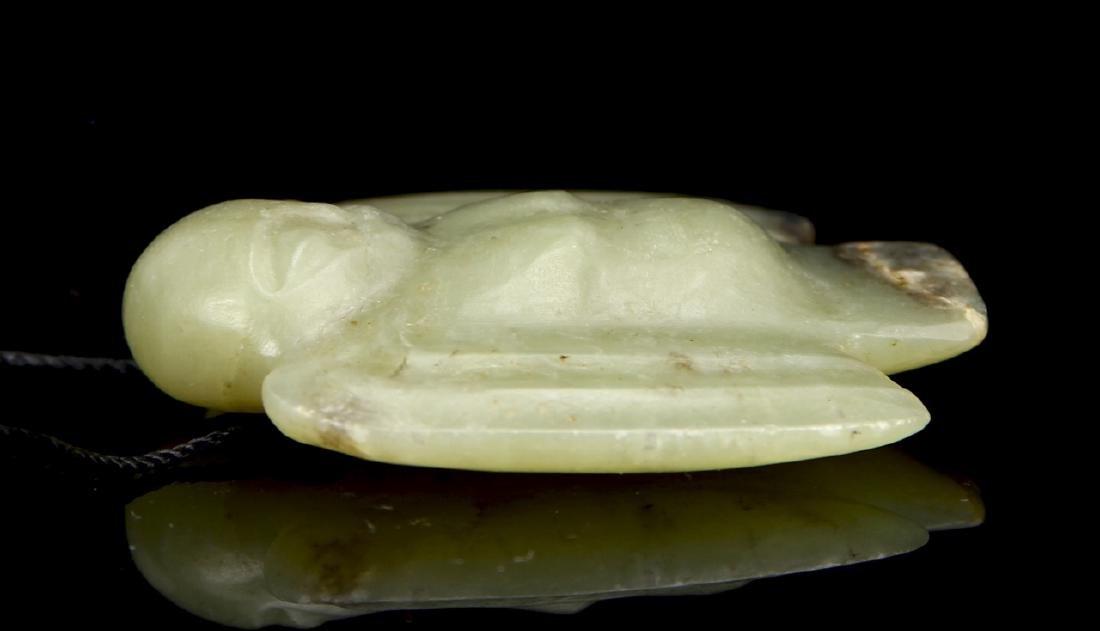 Green Jade Bird-Shaped Pendant, Hongshan Gou Mang - 3